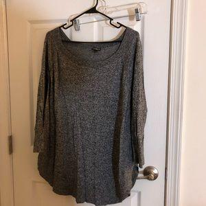 Express Curved Hem Boatneck Sweater